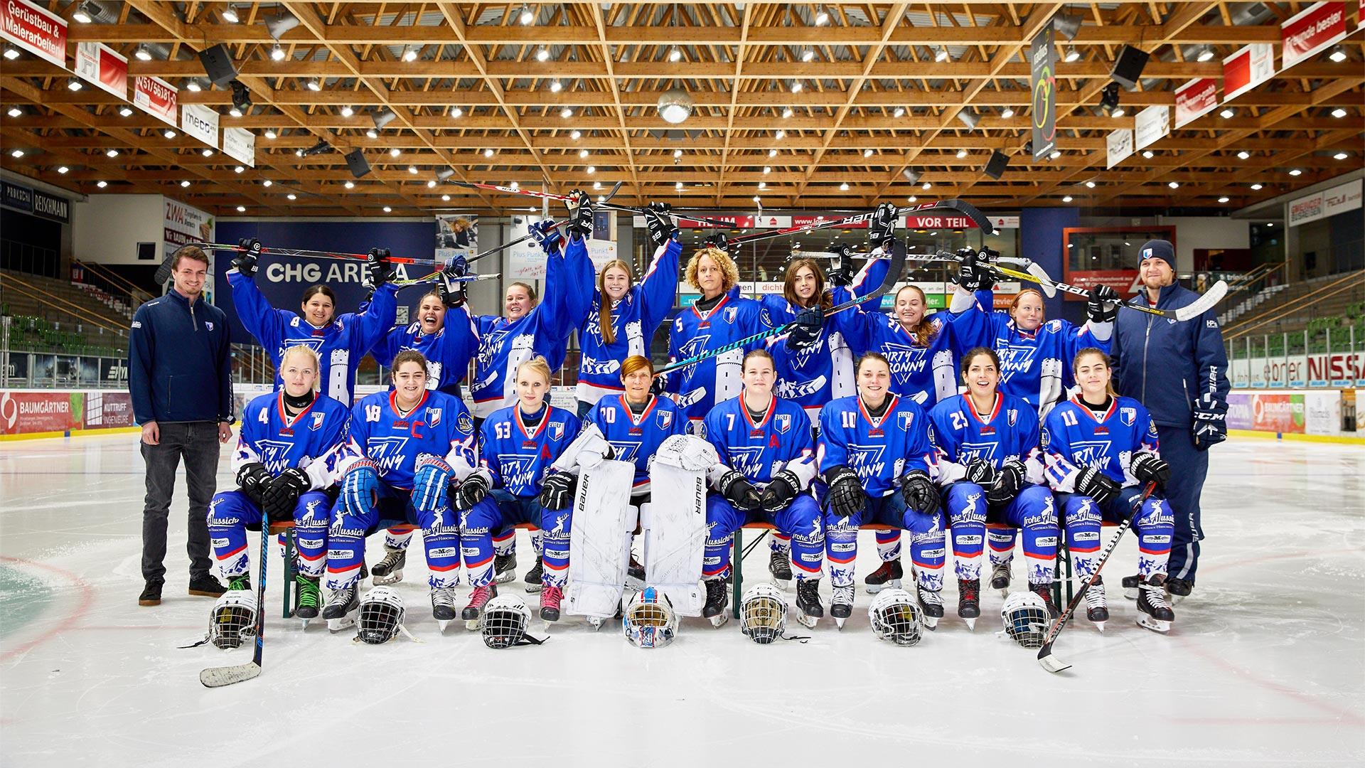 Ladycrax Ravensburg Eishockey Mannschaftsfoto